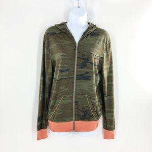 Alternative Earth Camo Hoodie Zip Up EUC